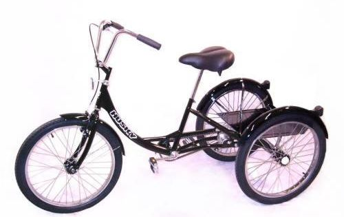 Husky T 124c Industrial Tricycle W Platform Tricycle Bicycle Balloon Tire