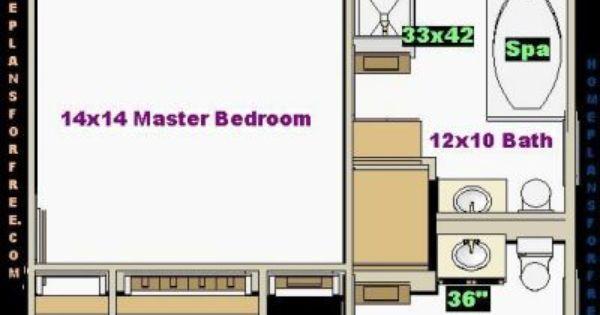 Master Bedroom 14x14 Design Ideas With A Standard Closet Depththis 14 X14 Master Bedroom Design D Master Bedroom Layout Remodel Bathroom Floor Bedroom Layouts