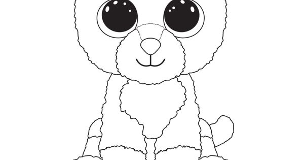 Fox Beanie Boo Coloring Page Coloring Pages