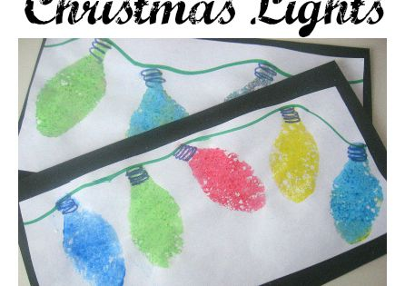 Sponge Painted Christmas Lights Craft! Cute! :)
