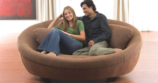 round sofa chair i wish i had one of these in white. Black Bedroom Furniture Sets. Home Design Ideas