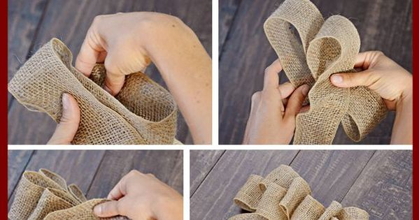 Tidbits&Twine - How to make a decorative bow tutorial. Step-by-step instructions and