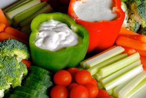 Bell Pepper Bowls! This is a cute idea for a vegetable tray!