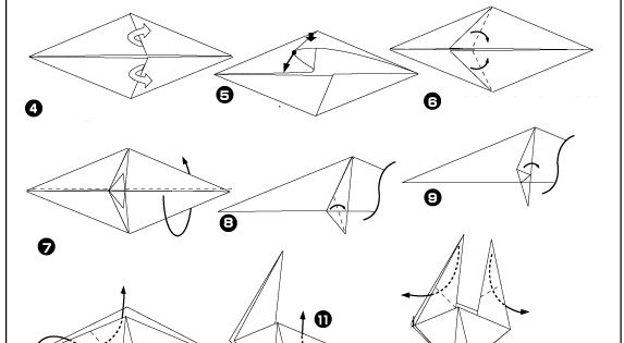 origami kip vouwen