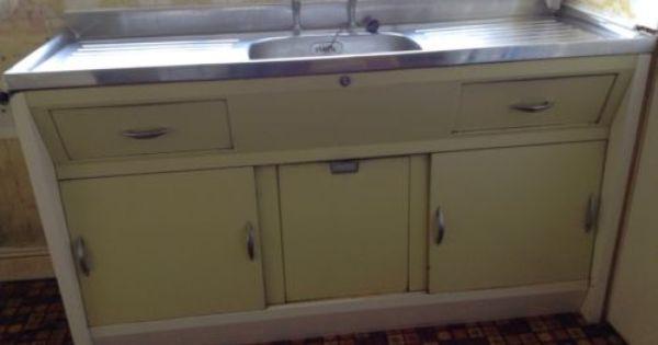 Retro Vintage Kitchen Sink Cabinet Unit 1960 S Double