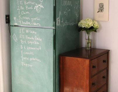 Paint a fridge with chalkboard paint // DIY project by keep smiling