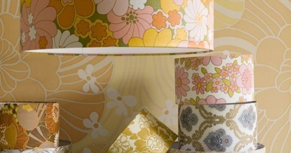 vintage wall paper lamp shades