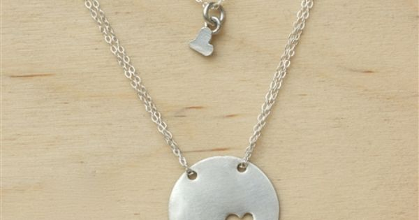 Piece of My Heart Necklace. Adorable mother-daughter necklace. I need two hearts.