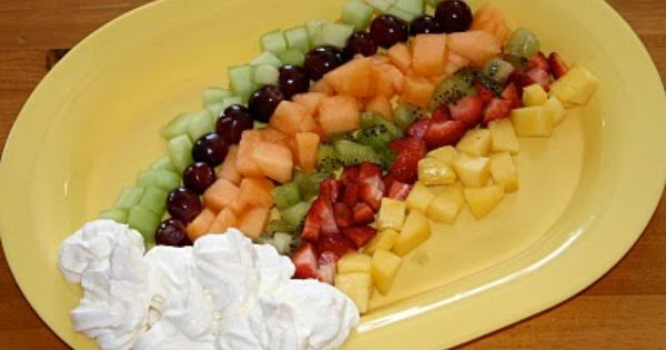 Rainbow Fruit platter for St. Patrick's Day