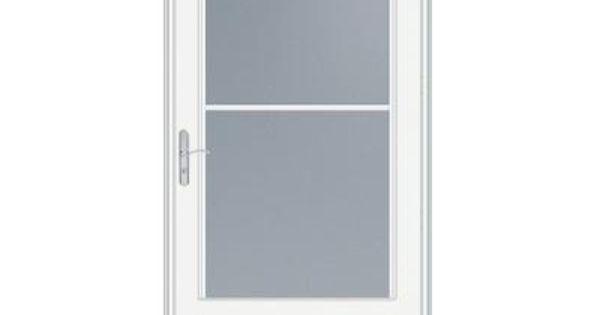 Emco 32 inch width 400 series self storing white door for Phantom screen doors home depot