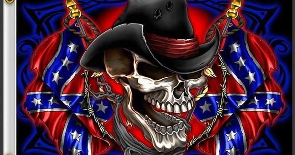 Skulls Rebel Flags Confederate Skull Flag 3 X 5 Free
