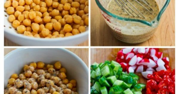 Salad with Tahini-Buttermilk Dressing, Chickpeas, Sumac, and Pine Nuts ...