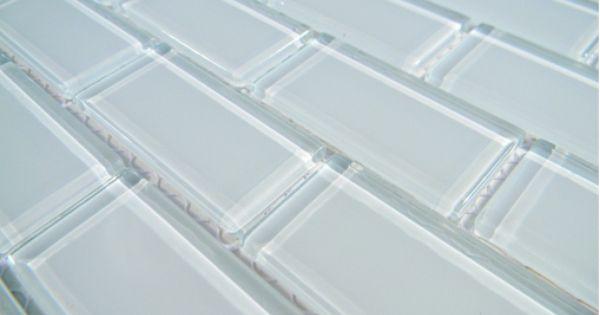 Crystal Glass Tile 1x2 Arctic Ice Polish Brick Pacific