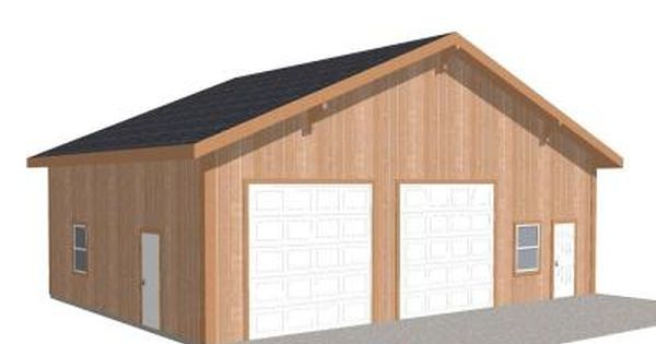 Barn Pros Workshop 40 Ft X 30 Ft Engineered Permit Ready Wood Garage Package Installation Not Included Thd Bp3040ws The Home Depot Garage Packages Garage Workshop Plans Garage Installation