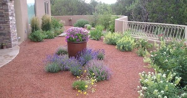 Gravel mulch albuquerque pinterest mulch for Landscaping rocks albuquerque