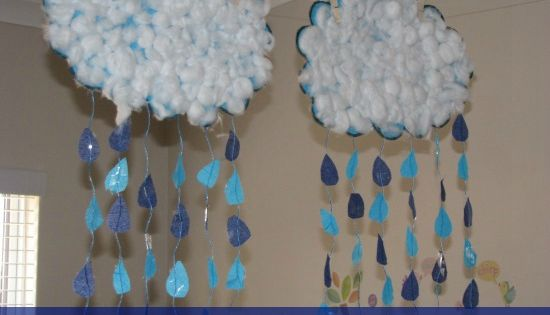 Alphabet Letter 'R' Craft Activity for kids - R is for Rain