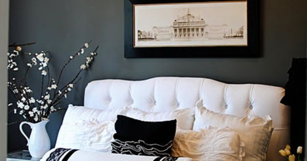 Gray And White Bedroom Listed In Beautiful Bedroom Decor With Grey Walls