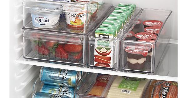 Crate&Barrel fridge organizers {someone's been peeking in my disastrous icebox}
