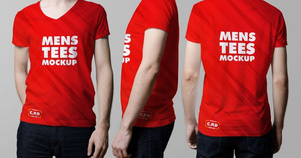 Download V Neck Male T Shirt Mockup Free Psd Pixelify Best Free Fonts Mockups Templates And Vectors Shirt Mockup Male T Shirt Clothing Mockup