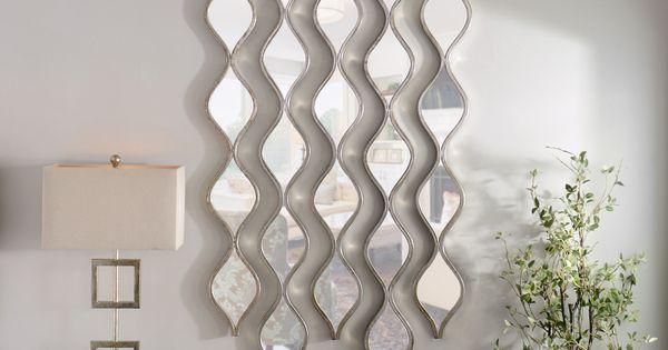 Single Silver Teardrop Panel Mirror, 6.25x58.75   An, Wall ...