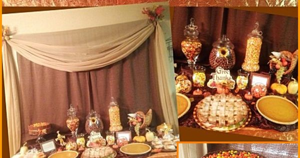Fall Decor Thanksgiving Table Candy Buffet Bar