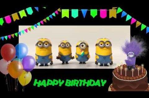 Happy Birthday to you! Minions Birthday song. - YouTube ...