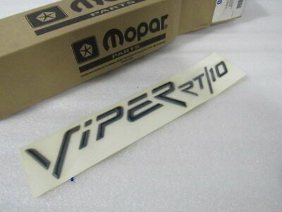 Details About New Oem Nos Dodge Viper Rt 10 Hood Decal Gc53mgr In