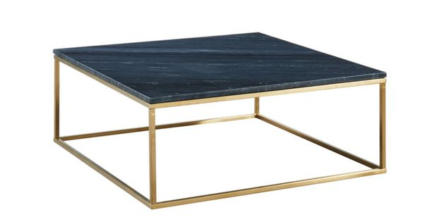 Table Basse Design Aretha Marbre Metal Noir Dore Table Basse Design Table Basse Table Basse Marbre