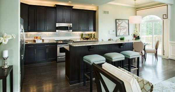 Dark Expresso Cabinets With Light Teal Walls My Cabinets