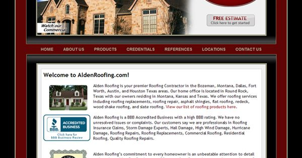 Alden Roofing   Dallas, Texas Http://www.aldenroofing.com | Website  Portfolio | Pinterest | Dallas E Texas