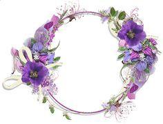 Purple Flower Borders And Frames Gallery Frames Purple Flower Round Flower Frame Flower Border Purple Flowers