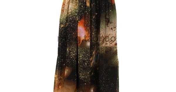 galaxy print chiffon dress