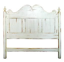 French Country Headboard White Distressed Furniture Antique