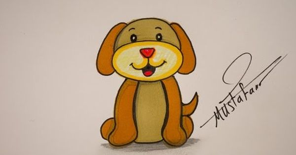 How To Drawing Dog For Kids Drawing For Kids Dogs And Kids Drawings