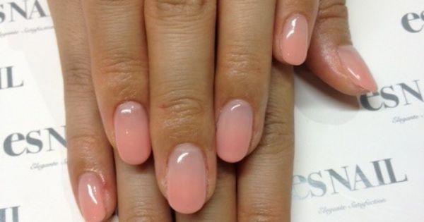 gradient sheer pink nail