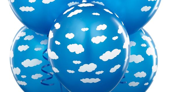 "Found the cloud balloons! Amazon.com: Mid Blue with Clouds 11"" Matte Balloons"