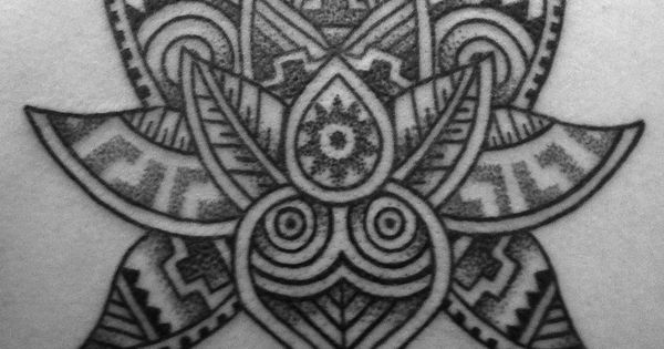 Lovely Aztec Inspired Lotus Design By Mat Bone Lotus Tattoo