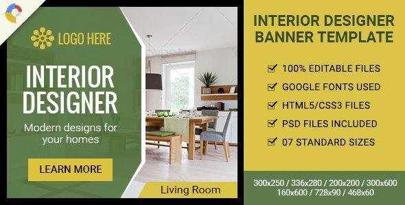 Gwd Interior Designer Html5 Ad Banner 07 Sizes Banner Ads