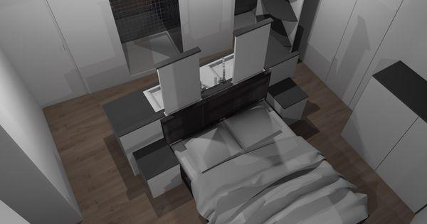 Faire d 39 une chambre de taille moyenne une suite avec wc for Taille moyenne salle de bain