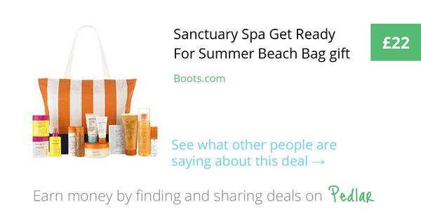 Sanctuary Spa Get Ready For Summer Beach Bag gift, £22.00 at Boots ...