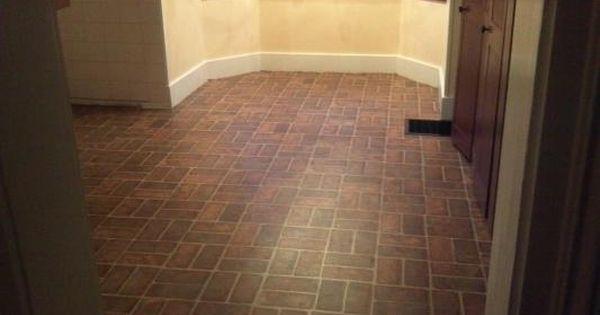 Warm brick flooring pinterest brick kitchen floors for Warm kitchen flooring