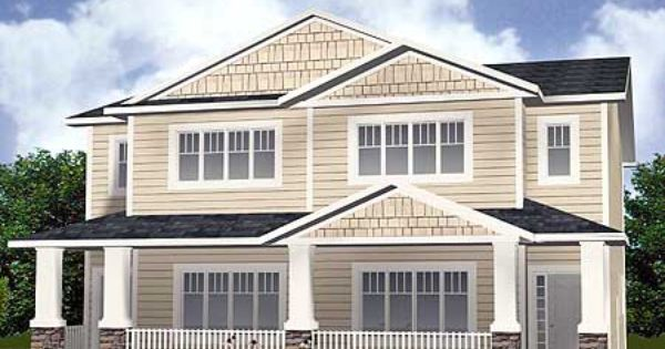 Plan 81620ab Multi Family Home With Shingles And Siding