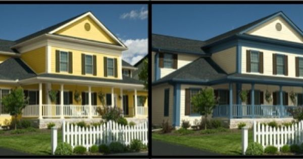 Deciding On A House Color Use The Color Visualizer To Choose Which Colors Work Best On The