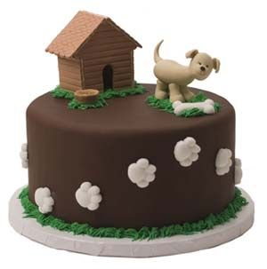 Dog Paws And Bone Cake With Cute Dog And Dog House We Totally