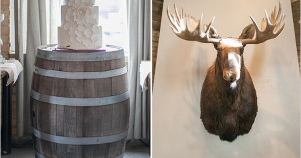 wine barrel cake stand