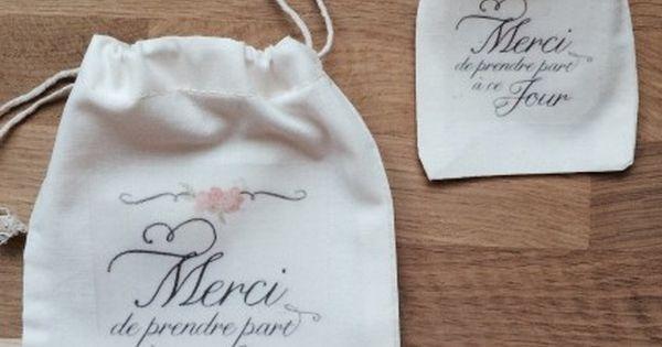 pochon sac en coton personnalis pour emballage cadeau t moin id es mariage pinterest. Black Bedroom Furniture Sets. Home Design Ideas
