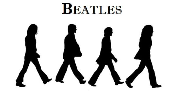 1 The Beatles Silouets Cake Topper Edible Image 1 4