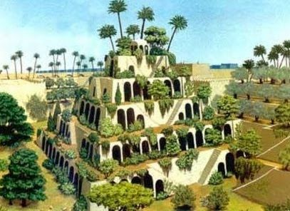 Hanging Gardens Of Babylon Wonders Of The World Pinterest