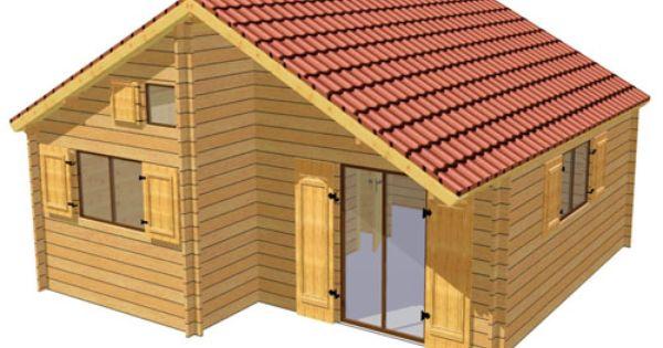 Chalet de loirs en double madriers de 45 mm avec isolation for Paroi bois jardin