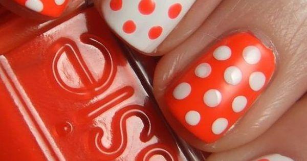 nail art - polkadots
